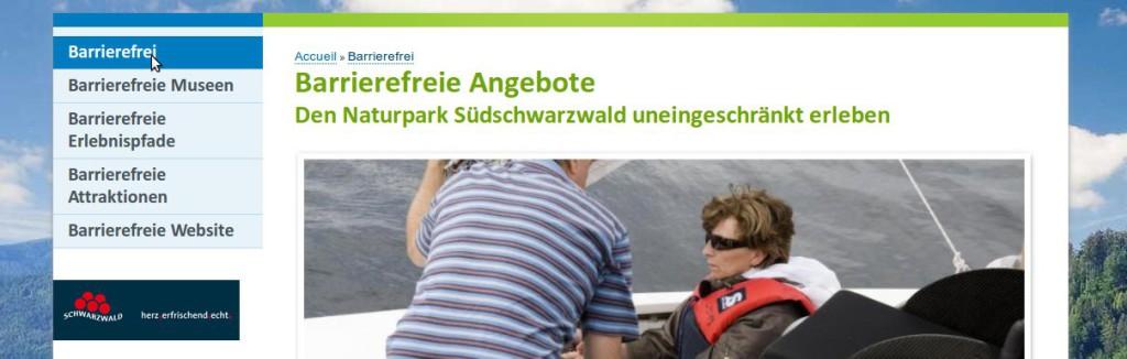 Bildschirm-Foto www.naturpark-suedschwarzwald.de