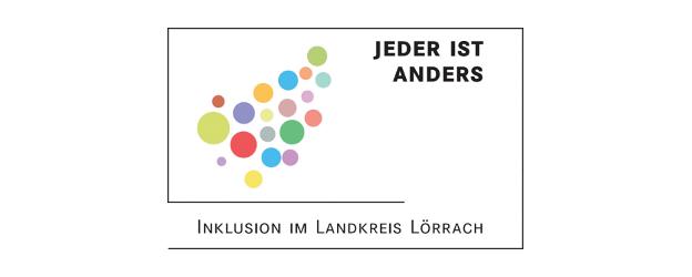 bunte Kreise ergeben zusammen die Form des Landkreis Lörrach