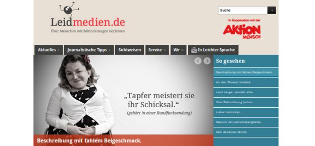 Bildschirm-Foto von www.leidmedien.de