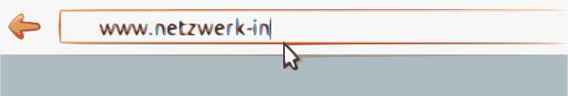 in die URL-Eingabemaske eines Internetbrowsers wird gerade www.netzwerk.in eingegeben