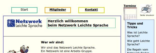 Bildschirm-Foto www.leichtesprache.org