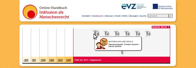 Bildschirm-Foto von www.inklusion-als-menschenrecht.de