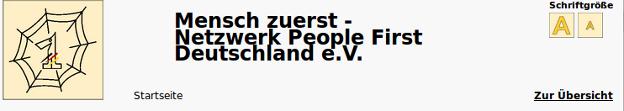 """Bildschirm-Foto von """"Mensch zuerst"""""""