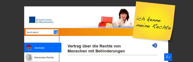 Bildschirm-Foto von www.ich-kenne-meine-rechte.de/